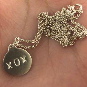hellen ficalora Jewelry - Helen Ficalora XOX disk charm and fine chain